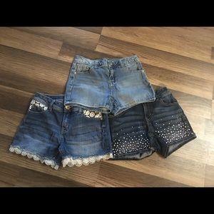 Bundle Justice 12 slim jean shorts